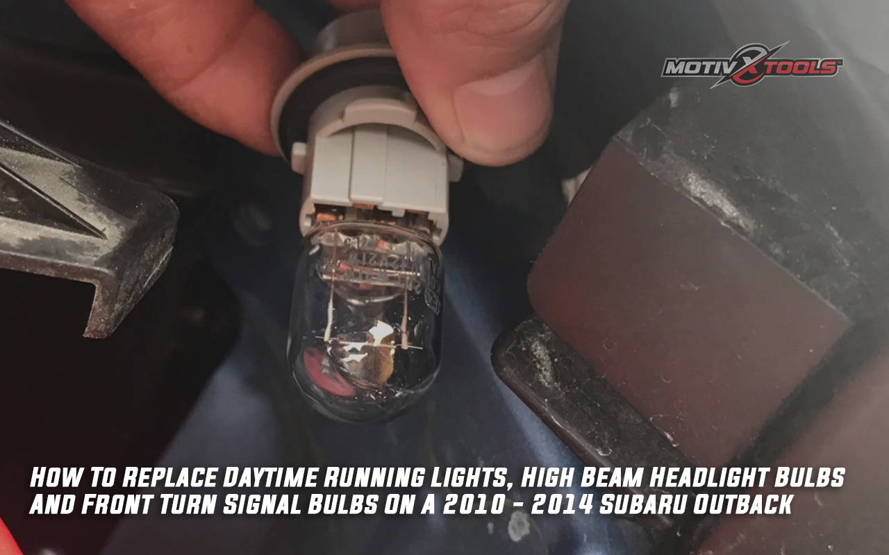 2010 - 2014 Subaru Outback Parking Lights, High Beam & Front Turn Signal Bulb Replacement