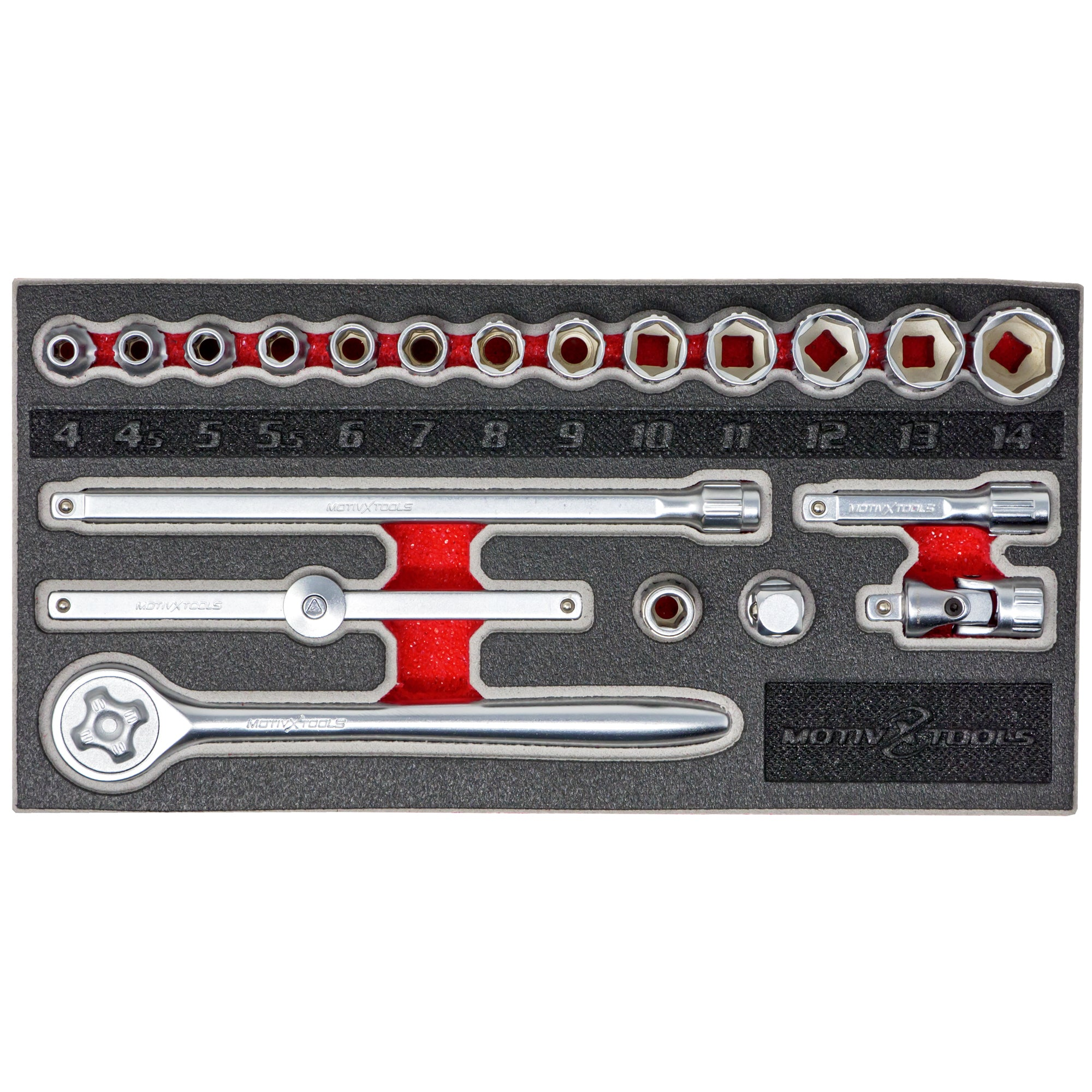 "1/4"" Drive Metric Socket And Ratchet Set - 20 Pc"