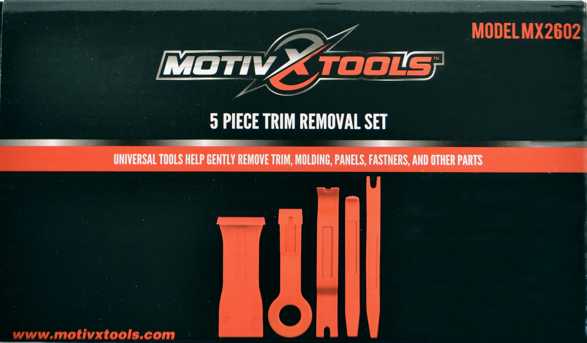 MX2602 5pc Trim and Panel Removal Tool Set Packaging