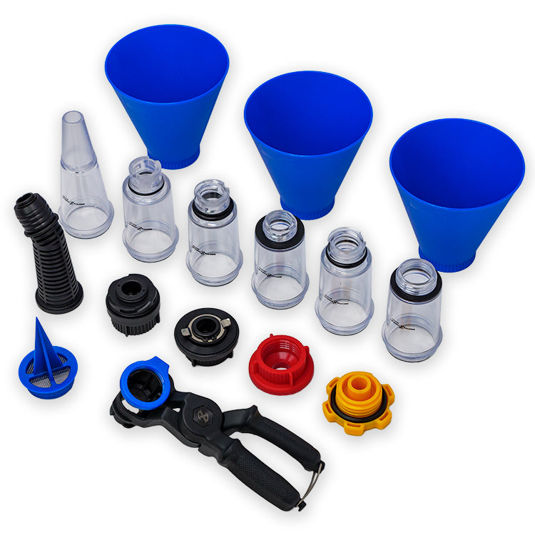 16pc Advanced Engine Oil Funnel Master Kit