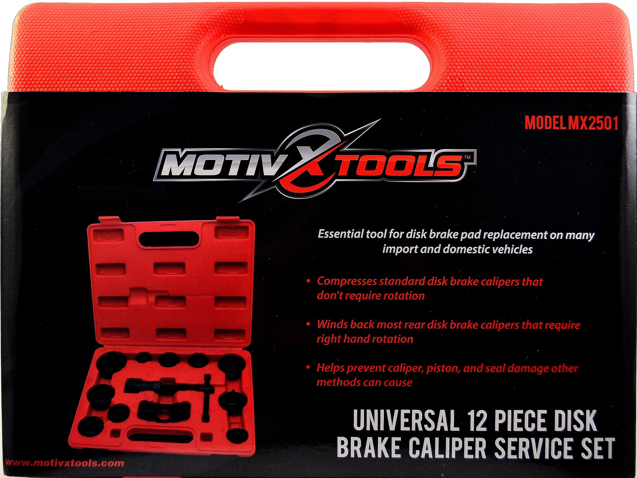 12 Piece Universal Brake Wind Back Set Motivx Tools