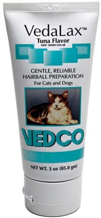 Vedco 18597 VedaLax Hairball Preparation Tuna 3 oz GREEN - Peazz Pet