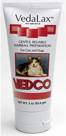 Vedco 18598 VedaLax Hairball Preparation Malt 3 oz RED - Peazz Pet