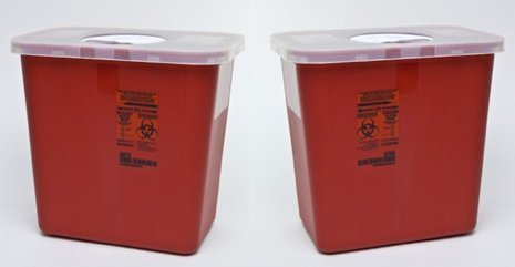 Sharps Container, 2 Gallon With Rotor Opening Lid - Peazz Pet