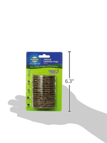PetSafe 17586 Busy Buddy Gnawhide Rings Refill, Large