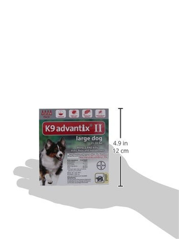 Advantix ADVX-RED-55-4 Flea and Tick Control for Dogs 20-55 lbs 4 Month Supply
