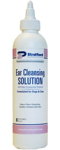 Stratford 19101 Stratford Ear Cleansing Solution (Sweet Pea & Vanilla Scent) 8 oz - Peazz Pet