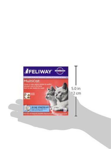 Ceva 19093 Feliway MultiCat Diffuser Plugin Starter Kit 30 Day with Vial