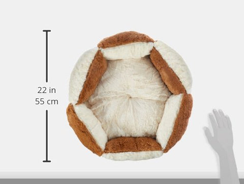 Armarkat Round or Oval Shape Pet Cat Bed for Cats and Small Dogs