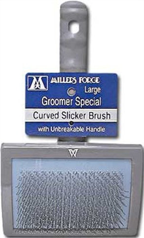 Millers Forge 16870 Curved Slicker Brush, Large (Groomer Special) 416C - Peazz Pet