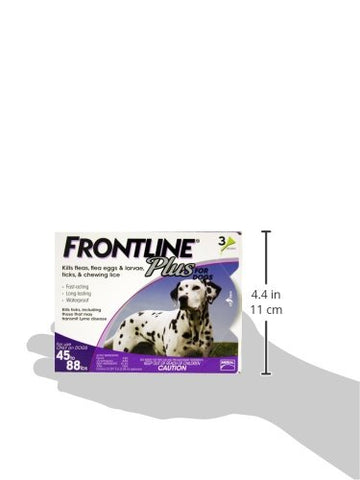 Merial 10189 Frontline Plus For Dogs 4588 lbs, Purple 3 Tubes