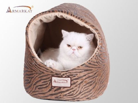 Armarkat Cat Bed - Bronze & Beige