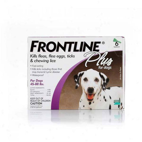 Frontline 45-88-6PK-PS Flea Control Plus for Dogs And Puppies 45-88 lbs 6 Pack
