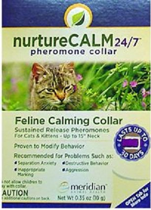 "NurtureCALM 24/7 Pheromone Collar For Cats, 15"" - Peazz Pet"