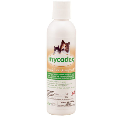 Mycodex Pet Shampoo With 3x Pyrethrins 12 oz - Peazz Pet