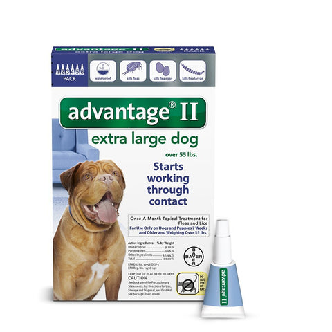 Advantage BLUE-100-6 Flea Control for Dogs And Puppies Over 55 lbs 6 Month Supply