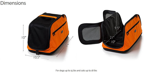 Sleepypod Air AI-ORD In-Cabin Pet Carrier (Orange Dream) Medium