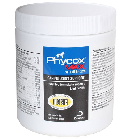 Phycox Max Canine Joint Support, 120 Small Bites - Peazz Pet