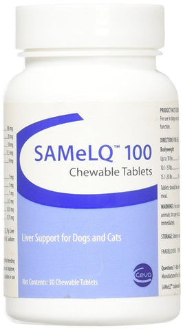 S-Adenosyl-100 (SAMe) 30 Tab, BLUE - Peazz Pet