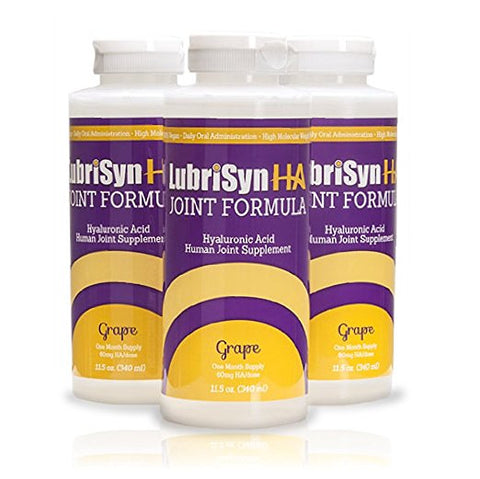 LubriSynHA Joint Formula For People - Grape Flavor, 11.5 oz - 3 Pack Reactivated SKU; composite of 17434 - Peazz Pet