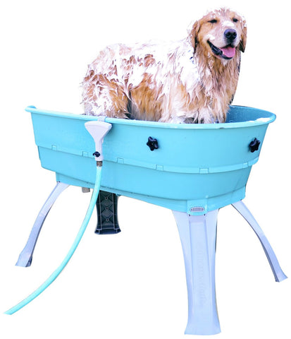 Booster Bath BB-LARGE-TEAL-FLAT Elevated Dog Bath and Grooming Center Flat Rate Shipping
