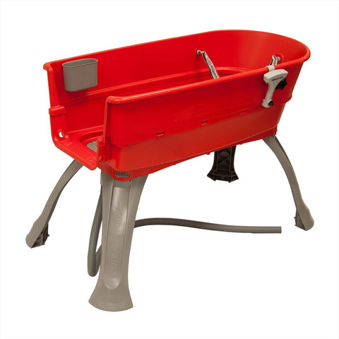 Booster Bath BB-LARGE-RED Elevated Dog Bath and Grooming Center