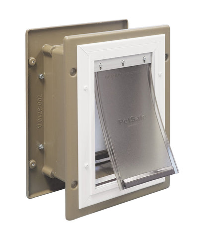 PetSafe PPA11-10915 Wall Entry Aluminum Pet Door (Small) - Peazz Pet
