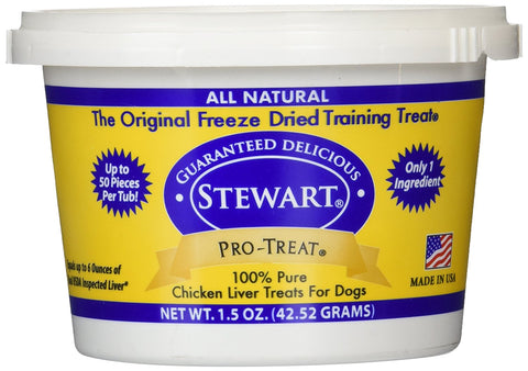 Miracle Corp MC401702 Stewart Pro-Treat Freeze Dried Chicken Liver 1.5 oz.