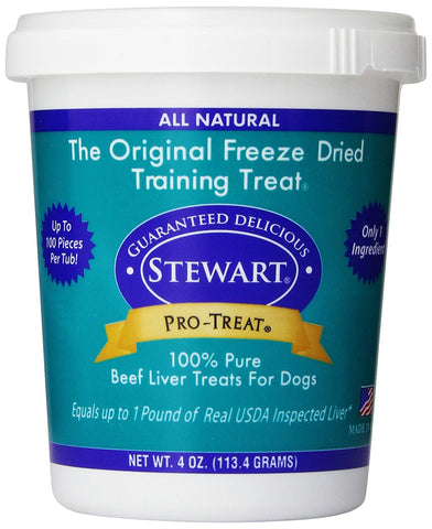 Miracle Corp MC400606 Stewart Pro-Treat Freeze Dried Beef Liver 4 oz.