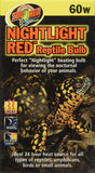 60 Watt Nightlight Red Inc Reptile Bulb (NR-60)