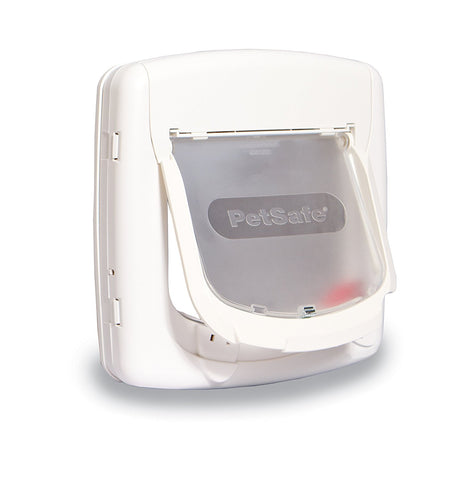 PetSafe PPA00-11325 4 Way White Cat Flap - Peazz.com - 1