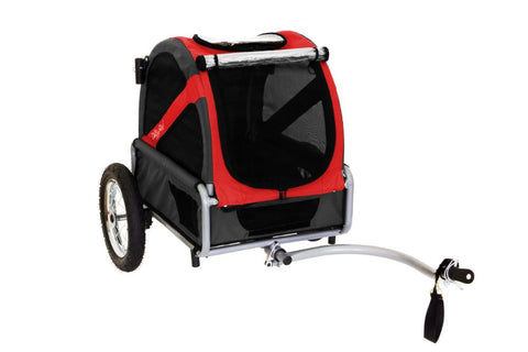 DoggyRide Mini Dog Bike Trailer - Urban Red (DRMNTR02-RD) - Peazz Pet - 2