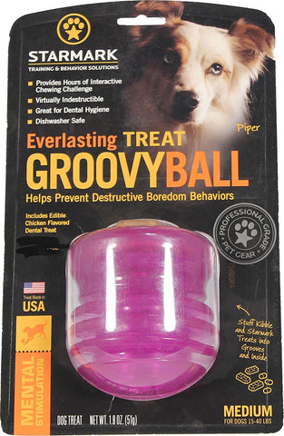Starmark SMGBPM Dog Everlasting Treat Groovy Ball