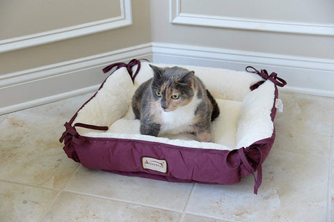 Armarkat Rectangle Pet Cat Bed - Removal Cover, Non Skid Base