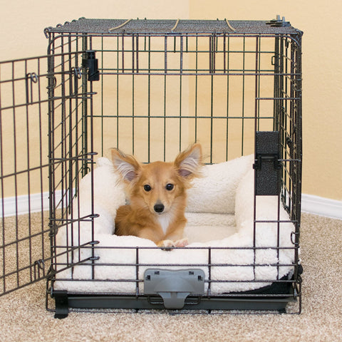 K&H Pet Products KH7909 Deluxe Bolster Dog Crate Pad