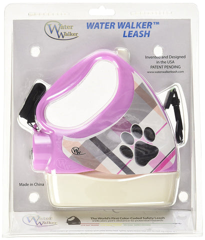 Water Walker WW-PINK/WHITE Dog Leash 10 Feet