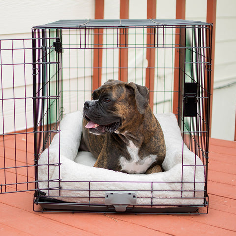 K&H Pet Products KH7939 Deluxe Bolster Dog Crate Pad