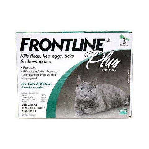 Frontline CAT-3PK-PS Flea Control Plus for All Cats And Kittens 3 Month Supply