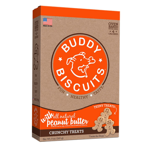 Buddy Biscuits CS-12530 Original Oven Baked Crunchy Teeny Treats Peanut Butter 8 ounces