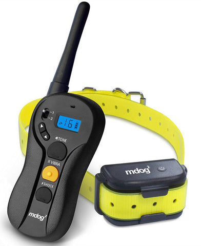 MDOG2 MD2-610 660 Yard Rechargeable Waterproof Blind Operation Shock Remote Training Collar with Separate Shock, Vibration, and Breed Buttons - Peazz Pet - 1