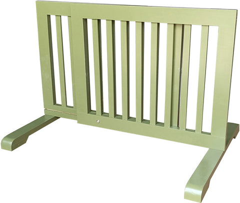 MDOG2 MK814-720WDBN Free Standing Pet Gate - Woodbine - Peazz Pet - 1