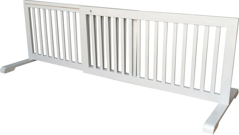 MDOG2 MK814-721GRY Free Standing Step Over Gate - Grey - Peazz Pet - 1