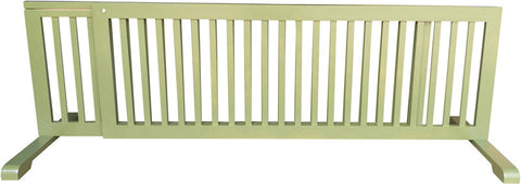 MDOG2 MK814-722WDBN Free Standing Pet Gate - Woodbine - Peazz Pet - 1
