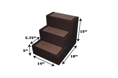 Pet Gear PG9630CH Stairs / Ramps Chocolate Finish