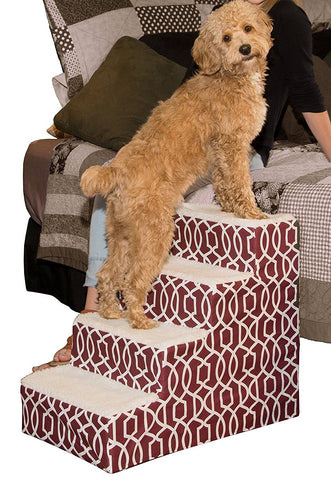 Pet Gear PG964TDC Stairs / Ramps Dark Cranberry Finish
