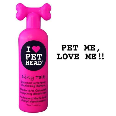 Pet Head PH10101 Dirty Talk Deodorizing Shampoo Spearmint Lemongrass 16oz