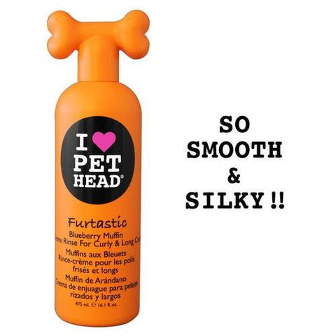 Pet Head PH10202 Furtastic Crème Rinse for Curly and Long Coat Blueberry Muffin 16oz