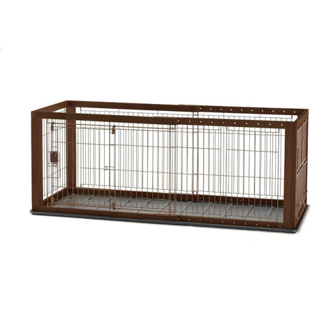 Richell R94920 Expandable Pet Crate with Floor Tray