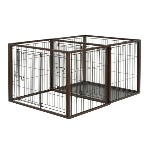 Richell R94925 Flip To Play Pet Crate
