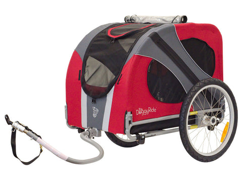 DoggyRide Novel Dog Bike Trailer - Urban Red (DRNVTR09-RD) - Peazz Pet